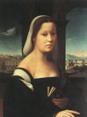"Reproduction oil paintings - Ridolfo Ghirlandaio - Portrait of a Woman, called  ""The Nun""  1506-10"