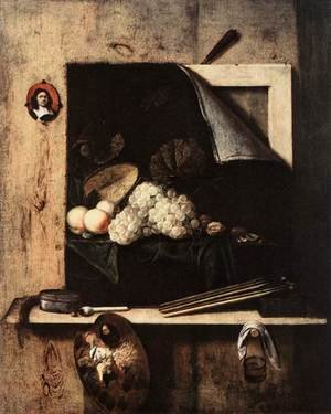 Cornelis Gijsbrechts reproductions - Still-Life with Self-Portrait 1663