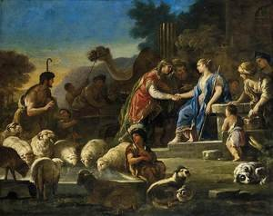 Famous paintings of Camels: Jacob and Rachel at the Well c. 1690