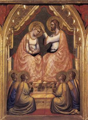 Reproduction oil paintings - Giotto Di Bondone - Baroncelli Polyptych- Coronation of the Virgin c. 1334