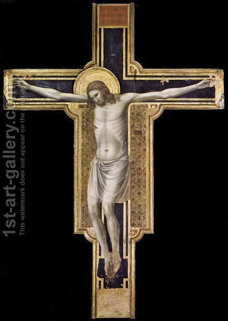 Crucifix 1310-17 by Giotto Di Bondone - Reproduction Oil Painting