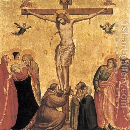 Crucifix 1320-25 by Giotto Di Bondone - Reproduction Oil Painting