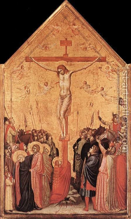 Giotto Di Bondone: Crucifixion (3) 1330s - reproduction oil painting