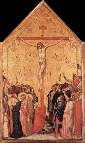 Reproduction oil paintings - Giotto Di Bondone - Crucifixion (3) 1330s