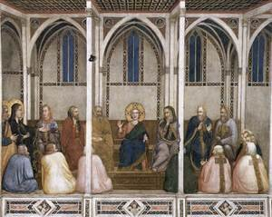 Reproduction oil paintings - Giotto Di Bondone - Christ Among the Doctors 1310s