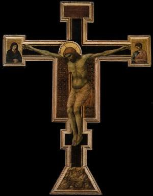Reproduction oil paintings - Giotto Di Bondone - Crucifix 1290-1300