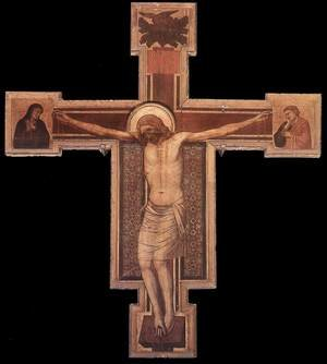 Reproduction oil paintings - Giotto Di Bondone - Crucifix (1) 1330s
