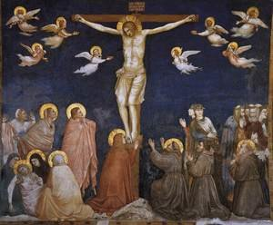 Reproduction oil paintings - Giotto Di Bondone - Crucifixion 1310s