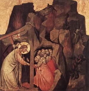 Reproduction oil paintings - Giotto Di Bondone - Descent into Limbo 1320-25