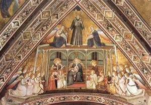 Reproduction oil paintings - Giotto Di Bondone - Franciscan Allegories- Allegory of Obedience c. 1330