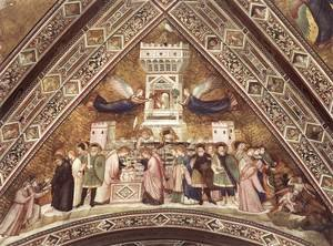 Reproduction oil paintings - Giotto Di Bondone - Franciscan Allegories-Allegory of Chastity c. 1330
