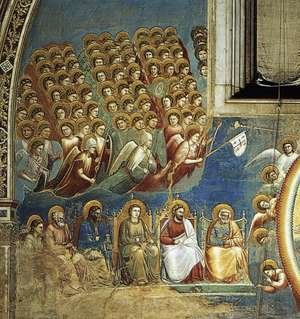 Reproduction oil paintings - Giotto Di Bondone - Last Judgment (detail 2) 1306, Fresco, Cappella Scrovegni (Arena Chapel), Padua