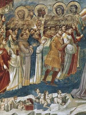 Reproduction oil paintings - Giotto Di Bondone - Last Judgment (detail 7) 1306