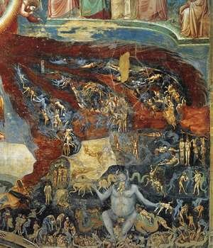 Reproduction oil paintings - Giotto Di Bondone - Last Judgment (detail 10) 1306