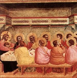 Reproduction oil paintings - Giotto Di Bondone - Last Supper 1320-25