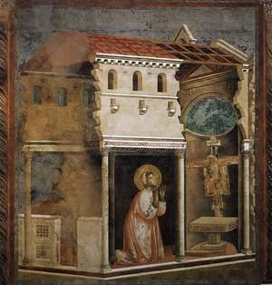 Reproduction oil paintings - Giotto Di Bondone - Legend of St Francis- 4. Miracle of the Crucifix 1297-99