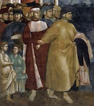 Reproduction oil paintings - Giotto Di Bondone - Legend of St Francis- 5. Renunciation of Wordly Goods (detail) 1297-99