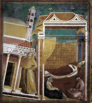 Reproduction oil paintings - Giotto Di Bondone - Legend of St Francis- 6. Dream of Innocent III 1297-99