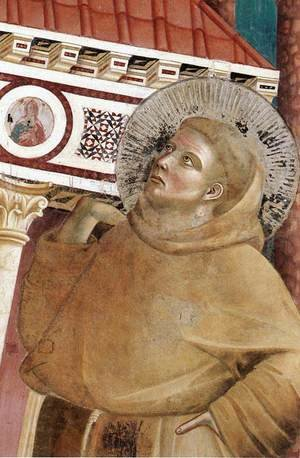Reproduction oil paintings - Giotto Di Bondone - Legend of St Francis- 6. Dream of Innocent III (detail 1)  1297-99