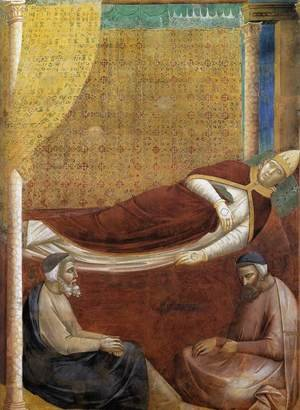 Reproduction oil paintings - Giotto Di Bondone - Legend of St Francis- 6. Dream of Innocent III (detail 2)  1297-99