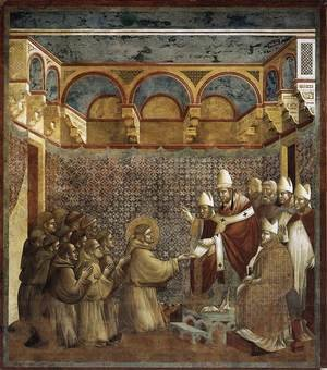 Reproduction oil paintings - Giotto Di Bondone - Legend of St Francis- 7. Confirmation of the Rule 1297-99