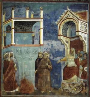Reproduction oil paintings - Giotto Di Bondone - Legend of St Francis- 11. St Francis before the Sultan (Trial by Fire) 1297-1300