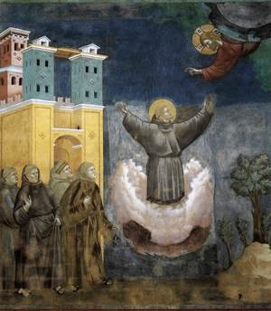 Reproduction oil paintings - Giotto Di Bondone - Legend of St Francis- 12. Ecstasy of St Francis 1297-1300