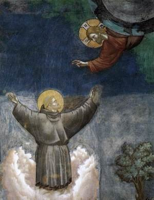Reproduction oil paintings - Giotto Di Bondone - Legend of St Francis- 12. Ecstasy of St Francis (detail) 1297-1300