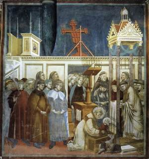 Reproduction oil paintings - Giotto Di Bondone - Legend of St Francis- 13. Institution of the Crib at Greccio 1297-1300
