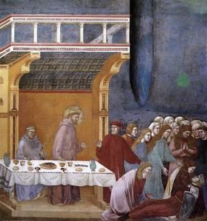 Reproduction oil paintings - Giotto Di Bondone - Legend of St Francis- 16. Death of the Knight of Celano 1297-1300