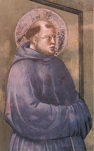 Reproduction oil paintings - Giotto Di Bondone - Legend of St Francis- 18. Apparition at Arles 1297-1300