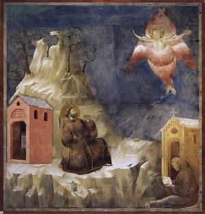 Reproduction oil paintings - Giotto Di Bondone - Legend of St Francis- 19. Stigmatization of St Francis 1297-1300
