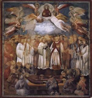 Reproduction oil paintings - Giotto Di Bondone - Legend of St Francis- 20. Death and Ascension of St Francis 1300
