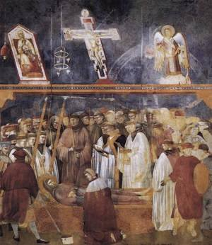 Reproduction oil paintings - Giotto Di Bondone - Legend of St Francis- 22. Verification of the Stigmata 1300
