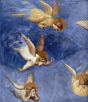 Reproduction oil paintings - Giotto Di Bondone - No. 36 Scenes from the Life of Christ- 20. Lamentation (detail) 1304-06