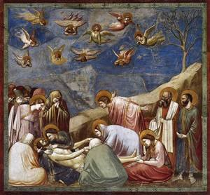 Reproduction oil paintings - Giotto Di Bondone - No. 36 Scenes from the Life of Christ- 20. Lamentation (The Mourning of Christ) 1304-06