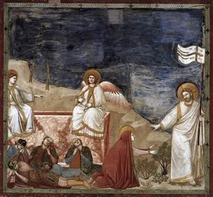Reproduction oil paintings - Giotto Di Bondone - No. 37 Scenes from the Life of Christ- 21. Resurrection (Noli me tangere) 1304-06