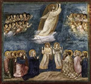 Reproduction oil paintings - Giotto Di Bondone - No. 38 Scenes from the Life of Christ- 22. Ascension 1304-06