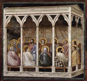 Reproduction oil paintings - Giotto Di Bondone - No. 39 Scenes from the Life of Christ- 23. Pentecost 1304-06