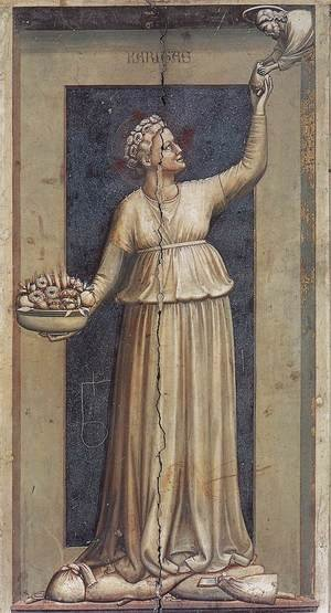 Reproduction oil paintings - Giotto Di Bondone - No. 45 The Seven Virtues- Charity 1306