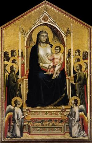 Reproduction oil paintings - Giotto Di Bondone - Ognissanti Madonna (Madonna in Maesta) c. 1310