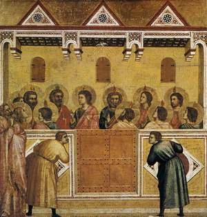 Reproduction oil paintings - Giotto Di Bondone - Pentecost 1320-25