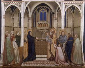 Reproduction oil paintings - Giotto Di Bondone - Presentation of Christ in the Temple 1310s