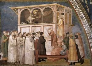 Reproduction oil paintings - Giotto Di Bondone - Raising of the Boy in Sessa 1310s