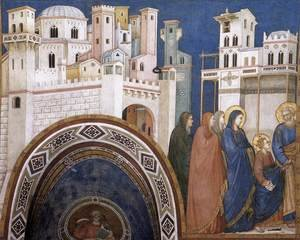 Reproduction oil paintings - Giotto Di Bondone - Return of Christ to Jerusalem 1310s