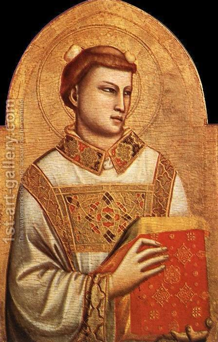 Giotto Di Bondone: Saint Stephen 1320-25 - reproduction oil painting