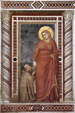 Reproduction oil paintings - Giotto Di Bondone - Scenes from the Life of Mary Magdalene- Mary Magdalene and Cardinal Pontano 1320s