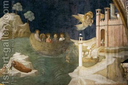 Giotto Di Bondone: Scenes from the Life of Mary Magdalene- Mary Magdalene's Voyage to Marseilles 1320 - reproduction oil painting