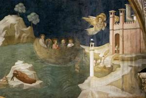 Reproduction oil paintings - Giotto Di Bondone - Scenes from the Life of Mary Magdalene- Mary Magdalene's Voyage to Marseilles 1320