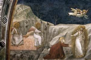 Reproduction oil paintings - Giotto Di Bondone - Scenes from the Life of Mary Magdalene- Noli me tangere 1320s